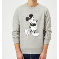 Disney Mickey Mouse Classic Kick Black And White Sweatshirt - Grey - S - Grey