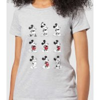 Disney Mickey Mouse Evolution Nine Poses Women's T-Shirt - Grey - 3XL - Grey