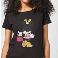 Disney Mickey Mouse Minnie Mouse Back Pose Women's T-Shirt - Black - 3XL - Black