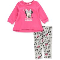 Disney Minnie Mouse Baby Girls' 2-Piece Leggings Set Outfit - dark pink/gray, 3 - 6 months