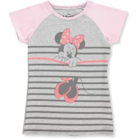 Disney Minnie Mouse Girls' T-Shirt - heather gray/pink, 7-8